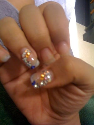 Boogie Nights Crystal Rhinestone Nail Art With Gel