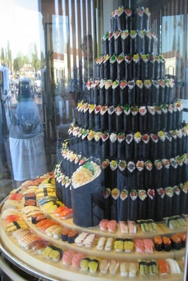 sushi wedding tower