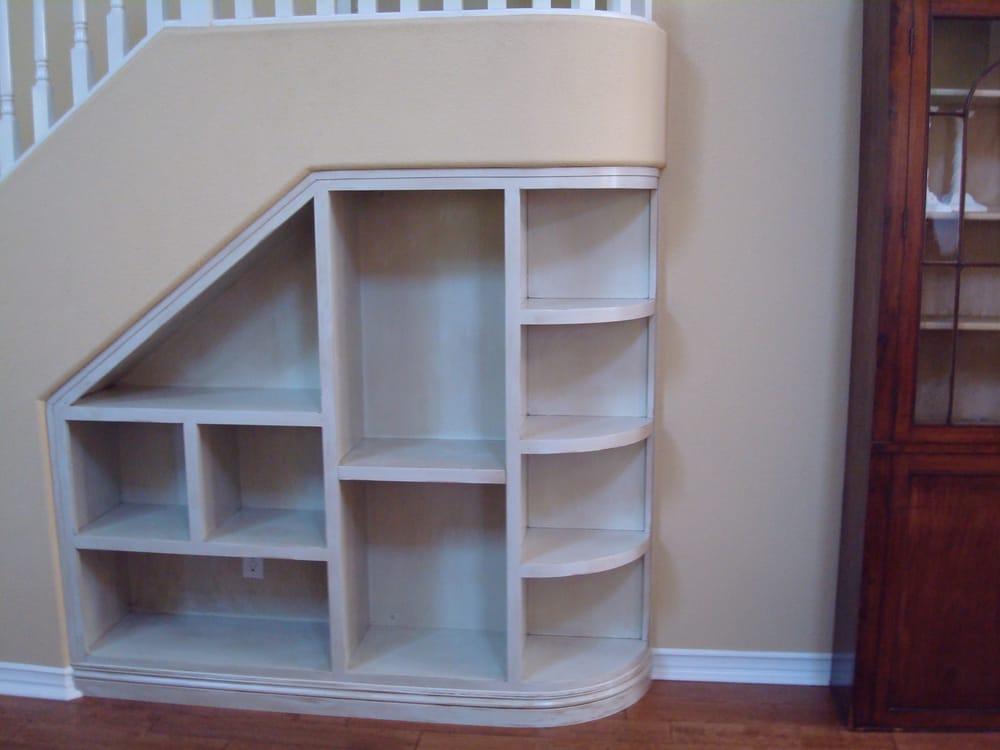 custom bookcase under stairs camarillo yelp