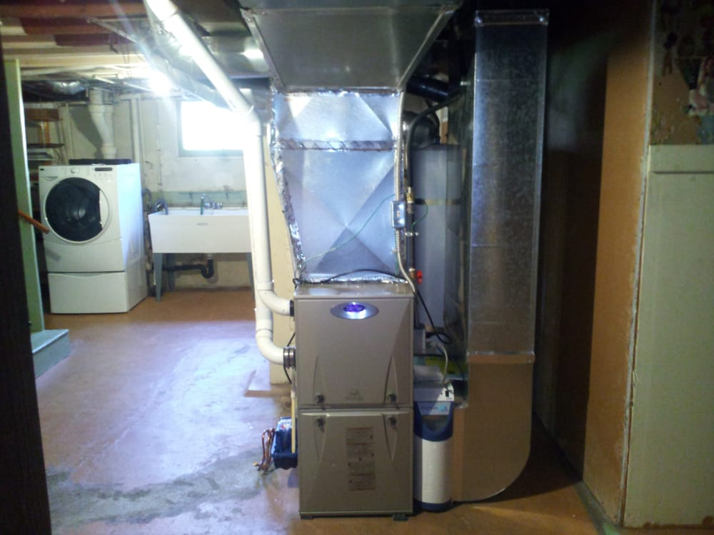 We Removed An Old Oil Furnace And Installed This Carrier