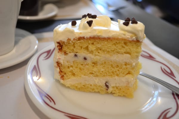 Cassata cake!!!!! It has cannoli (sp?) filling between the layers ...