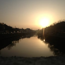 Sunset over the Liffey....loving this spring evenings