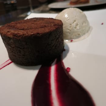 Warm brownie with Baileys Ice cream