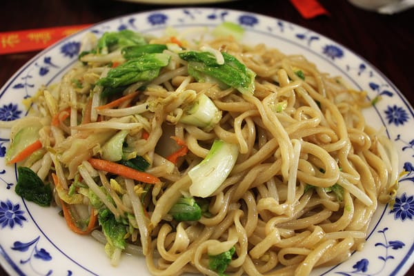 Vegetable pan-fried noodles with regular hand-pulled noodles. | Yelp