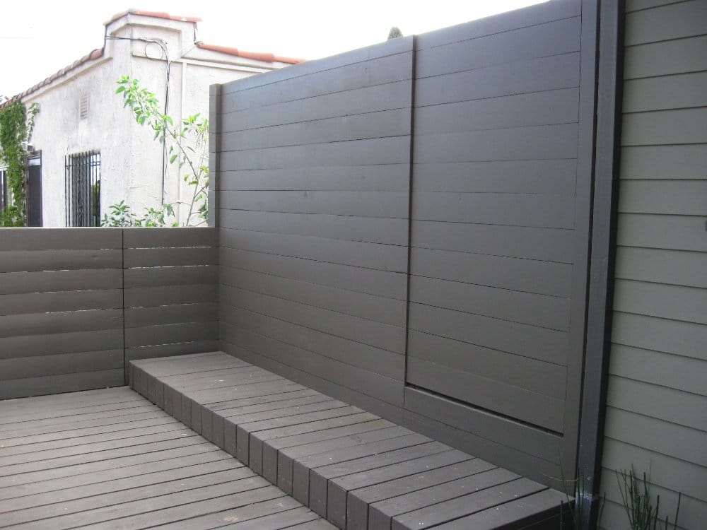 Modern Fence w/ Gate | Yelp