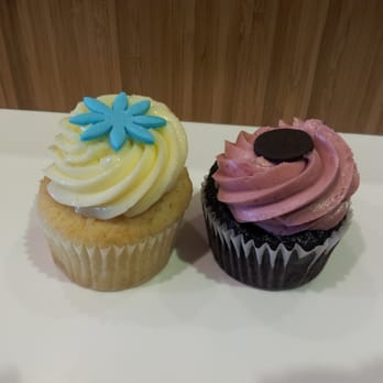 Meyer Lemon Curd Cupcake and Raspberry Chocolate Cupcake
