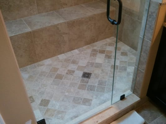 master bath remodel 3 8 heavy glass shower door 4x4