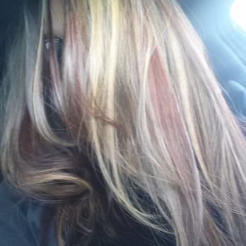 Fabulous hair color by Jen! I can just walk around like Cousin It all day, I love it so much..;)