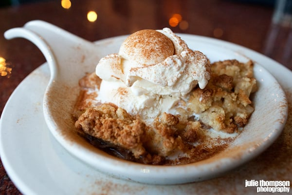 Warm Apple Cobbler with Blue Bell vanilla ice cream. | Yelp