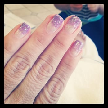 "OPI Color Gel Nails Ombre ""Do you Lilac it?"" with silver glitter"