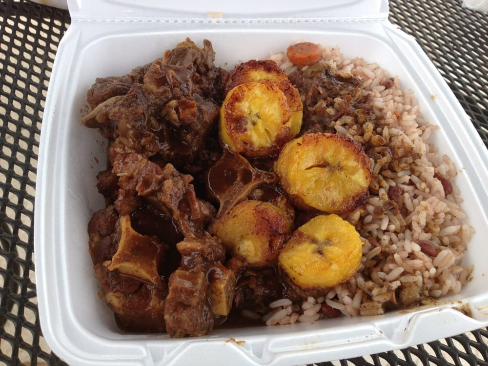 Oxtail fried plantains and rice and peas delicious yelp for Austin s caribbean cuisine