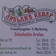 Arslan Kebab, Cologne, Nordrhein-Westfalen, Germany