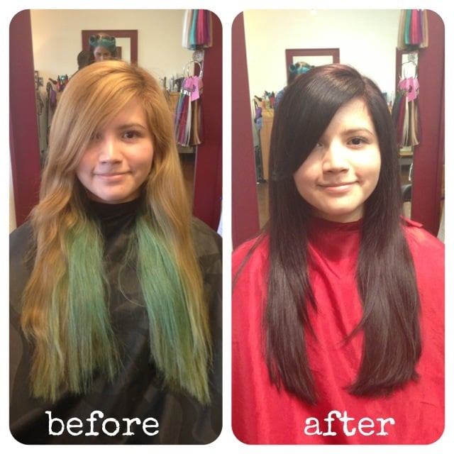 Before And After Color Correction And Haircut  Yelp