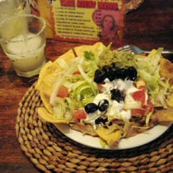 If it wasn't for the store-bought chops, these nachos would be nice.