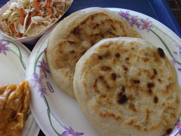 ... Pupusas Con Curtido (Masa Cakes With Cabbage Slaw) Recipe — Dishmaps