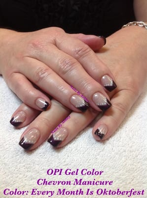 OPI Gel Color Chevron Style Manicure | Yelp