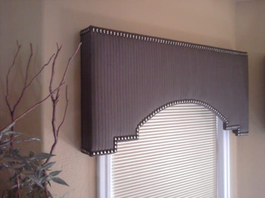 Shaped Cornice Box With Head To Head Tacks Made By