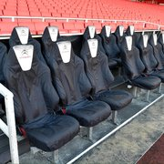 The Arsenal manager's seat.