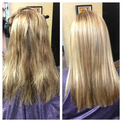 Before And After Keratin Treatment Highlights And Lowlights And Cut ...
