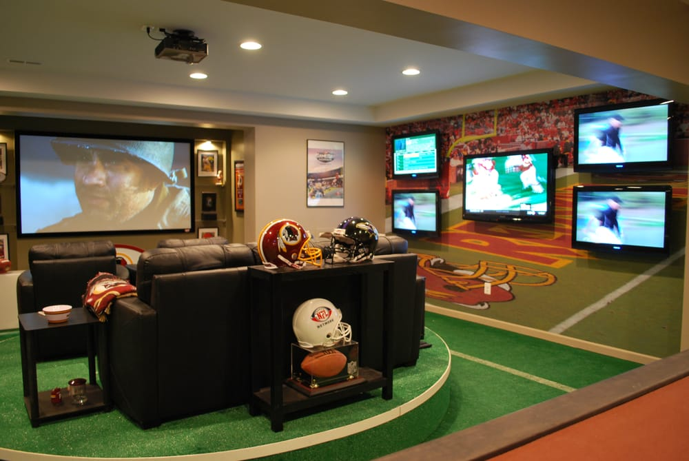 Man Cave Store Wilsonville : Installation for the tv show man caves quot nfl fan cave yelp