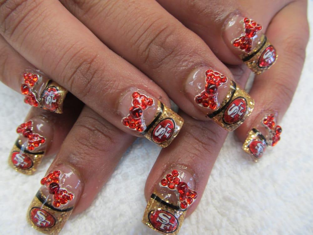 49ers nail design | Yelp