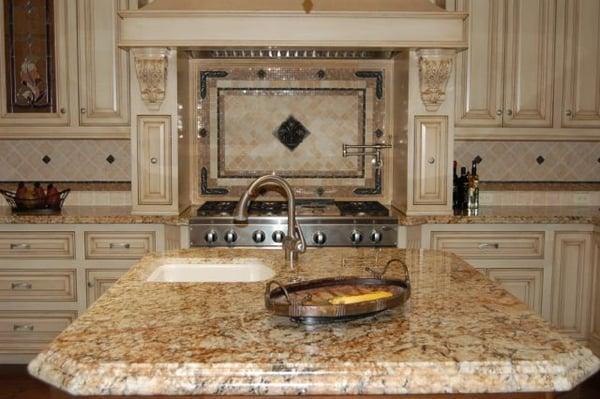 granite countertop with tile backsplash yelp