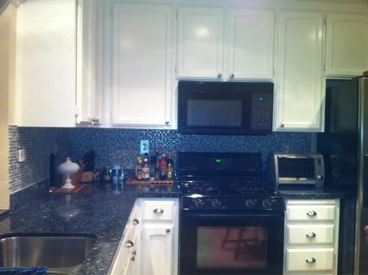 tile backsplash and blue pearl granite yelp