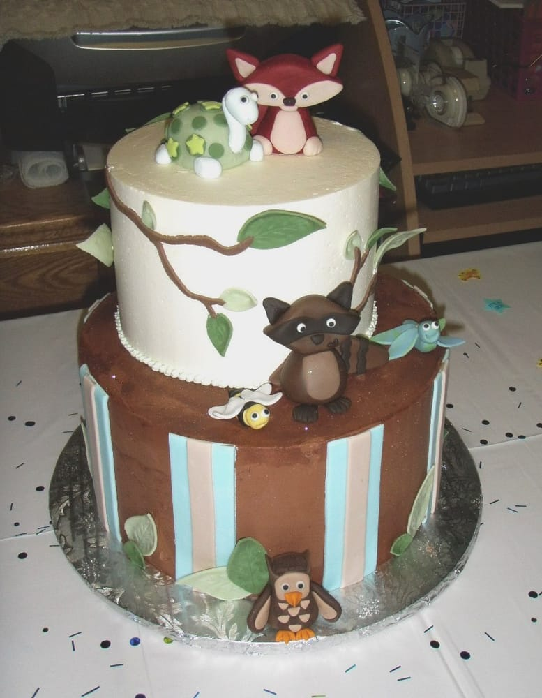 woodland animal baby shower cakes woodland animals baby shower cake