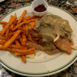 Turkey and dressing special with sweet potato fries