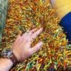 Bali Vertical Blind - Spectrum in Crystal with Regal Wood Cornice in Deep Cherry