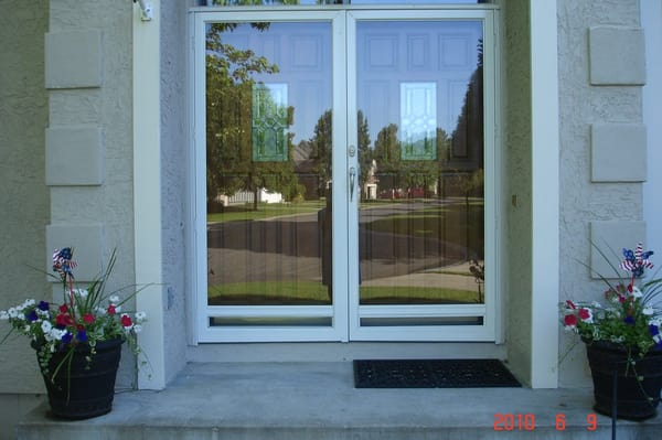 Columbia french storm doors yelp for Double storm doors for french doors