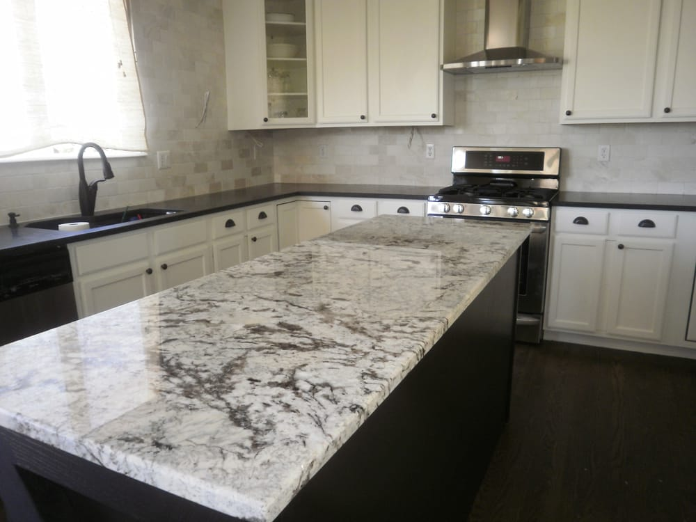 Black Pearl honed perimeter and Cold Spring granite island ...