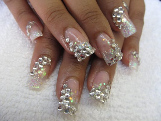 Nail Designs With Glitter And Rhinestones ~ Nails gold glitter ...