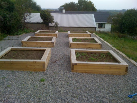 Raised vegetable beds in Connemara, Ireland | Yelp