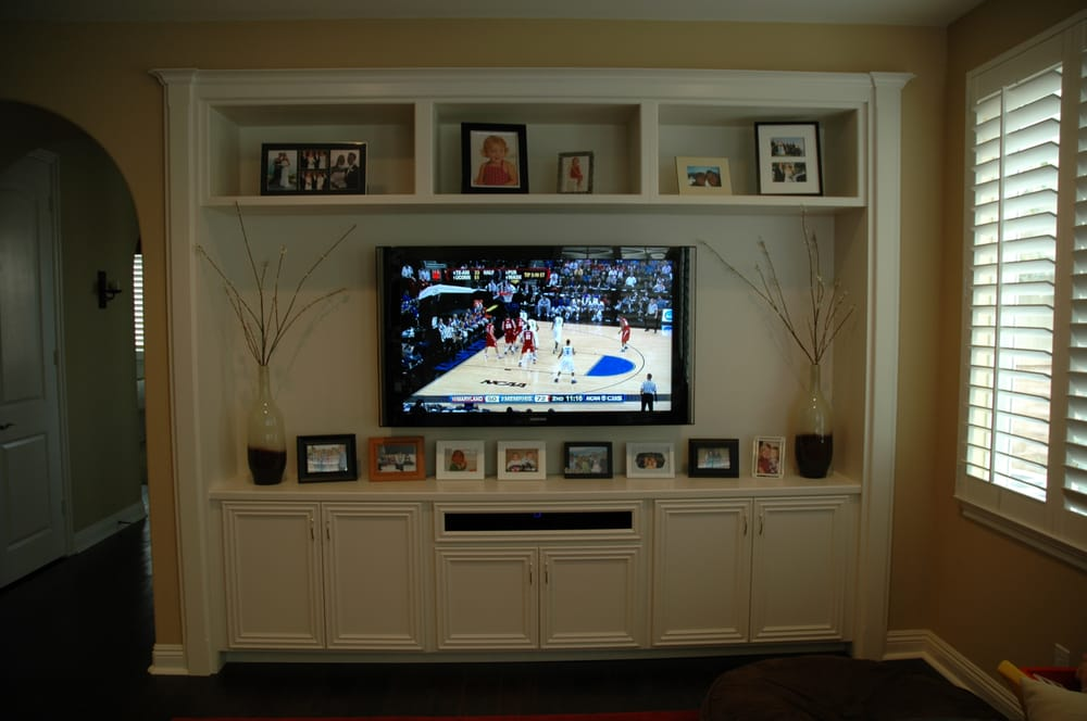 Custom Recessed Media And Entertainment Center In Laguna