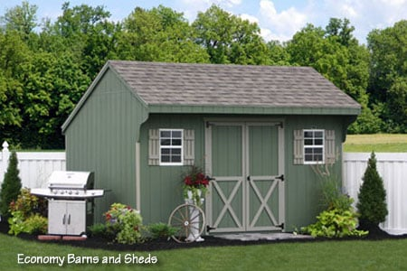 10x14 wooden saltbox storage shed from the amish in for Saltbox storage shed