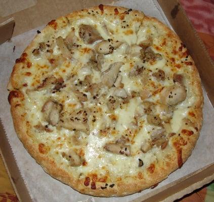 how to make white garlic pizza sauce