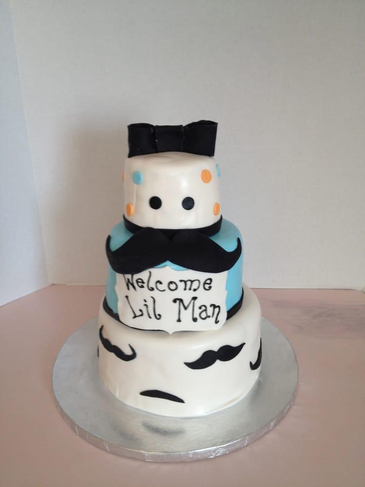 mustache baby shower cake yelp