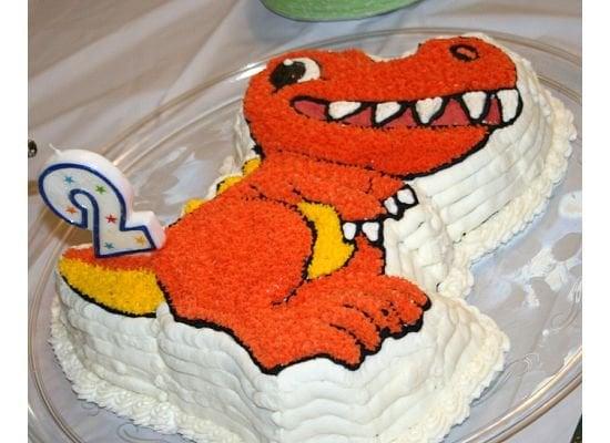 Wilton dinosaur cake for 2nd birthday party Yelp