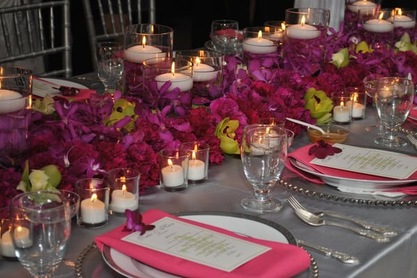 beautiful wedding table decorations in the reception hall! | Yelp