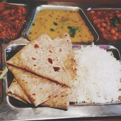 Chapati option of thali, only £4 on their lunch time discount! Delicious!