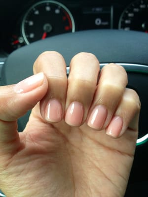 Natural gel manicure. Color was passion OPI | Yelp