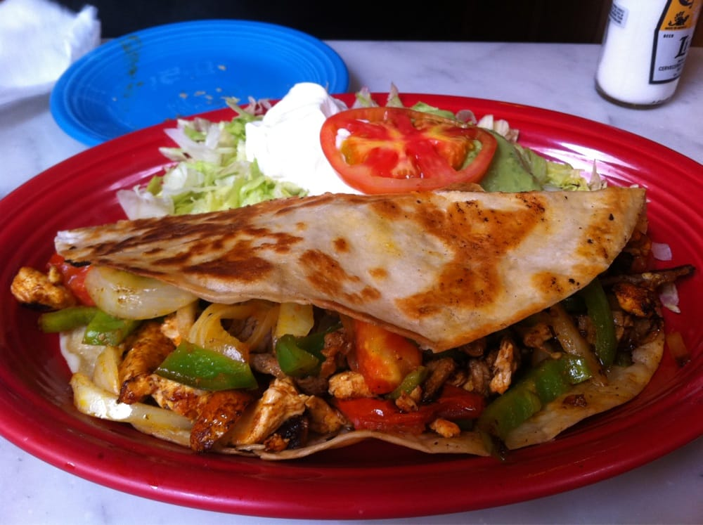Steak and chicken fajita quesadilla! | Yelp