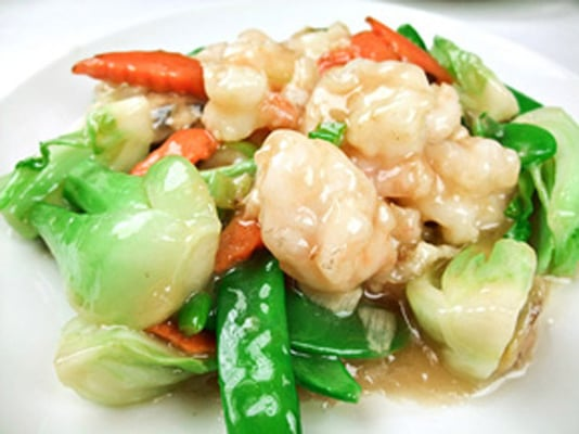 410 Mandarin Shrimp with Chinese Green in Oyster Sauce | Yelp
