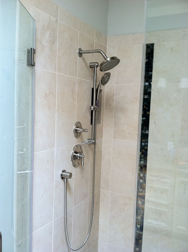 Seperate shower head and slide bar   Yelp