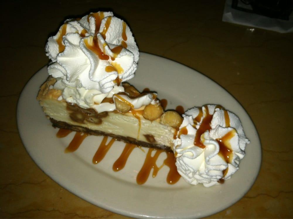 White Chocolate Caramel Macadamia Nut Cheesecake