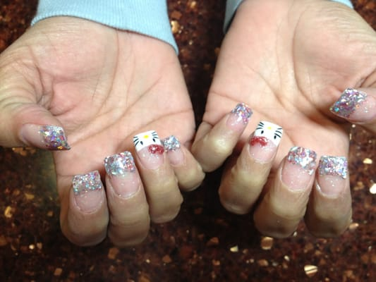 Hello Kitty Nails with Bow HD WallpaperHello Kitty Nails With Bow