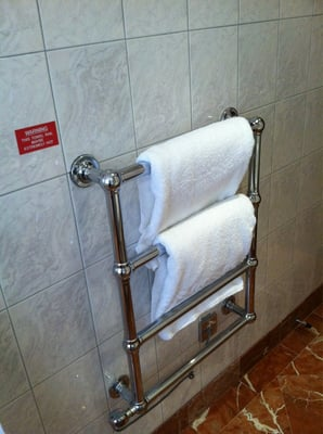 Towel heating rack...don't see these at the HIX bax