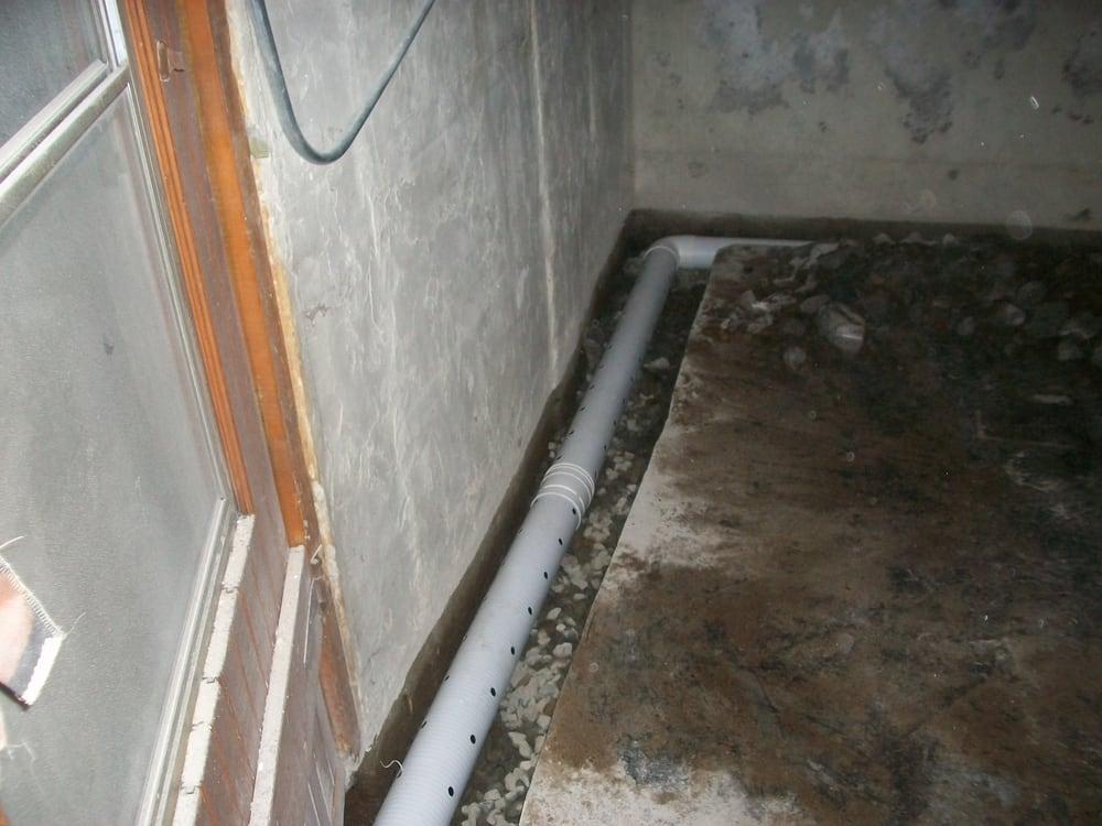 building french drain around basement yelp