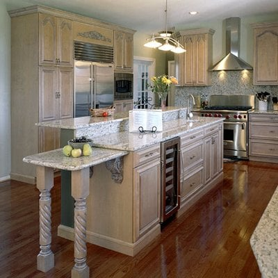 Maple cabinets with white glaze granite countertops yelp for Kitchen cabinets quakertown pa